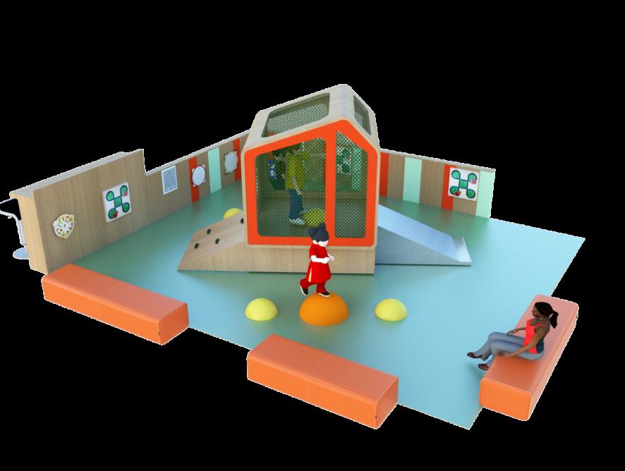 Concept Espace enfants sur mesure Cabane Jungle vue 1